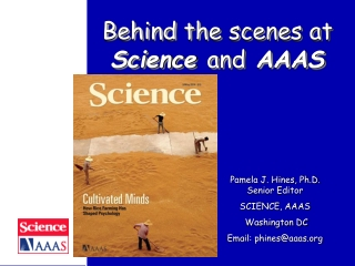 Behind the scenes at  Science  and  AAAS