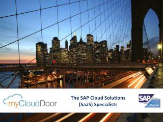 The SAP Cloud Solutions (SaaS) Specialists