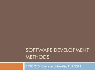 Software Development Methods