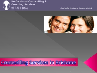 Counselling Services in Brisbane