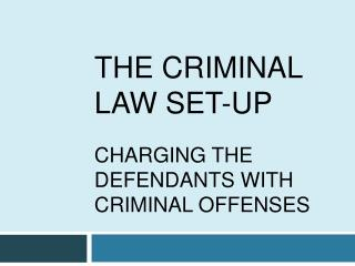 THE CRIMINAL LAW SET-UP