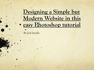 Designing a Simple but Modern Website in this easy Photoshop tutorial