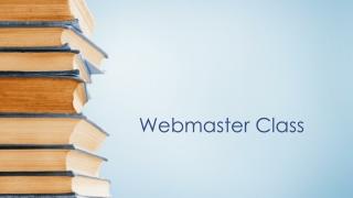 Webmaster Class