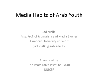 Media Habits of Arab Youth