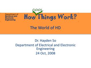 The World of HD