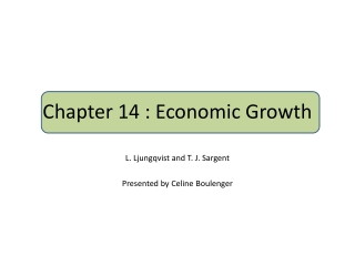 Chapter 14 : Economic Growth