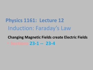 Induction: Faraday's  Law