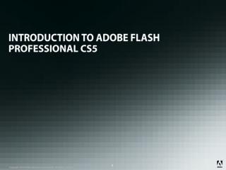 INTRODUCTION TO ADOBE FLASH PROFESSIONAL CS5