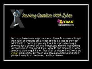 Zyban :Quitting Smoking Is Not Impossible