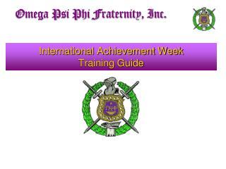 International Achievement Week Training Guide