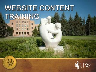 WEBSITE CONTENT TRAINING