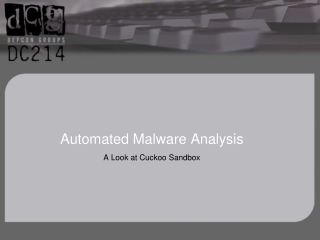 Automated Malware Analysis
