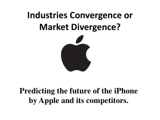 Industries Convergence or Market Divergence?