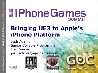 Bringing UE3 to Apple's iPhone Platform