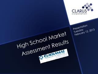 High School Market Assessment Results