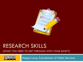 Research skills {What you need to get through with your sanity}