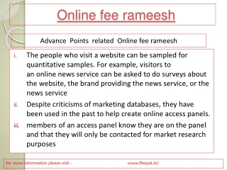 Anything You Must Learn Before submited online fee rameesh