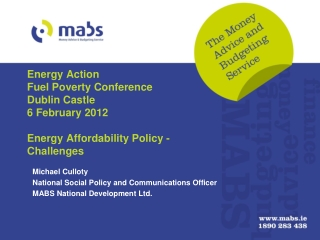 Energy Action Fuel Poverty Conference Dublin Castle 6 February 2012 Energy Affordability Policy - Challenges