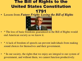The Bill of Rights to the United States Constitution 1791