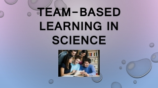 Team-Based Learning in science