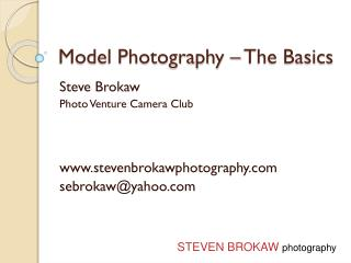 Model Photography – The Basics