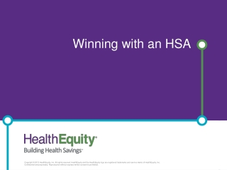 Winning with an HSA