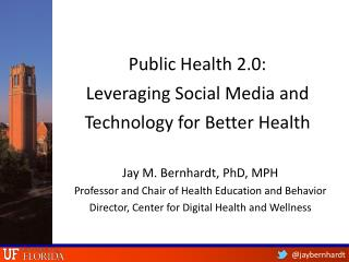 Public Health  2.0 :  Leveraging Social Media and Technology for Better Health