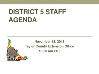 District 5 Staff Agenda