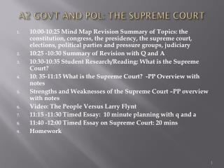 A2 GOVT AND POL: THE SUPREME COURT