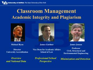 Classroom Management Academic Integrity and Plagiarism