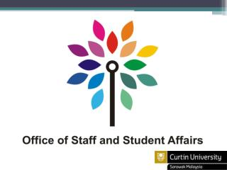 The Office of Staff and Student Affairs takes care of the following areas: