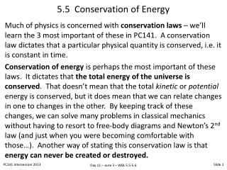 5.5  Conservation of Energy