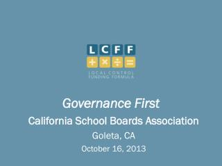 Governance First