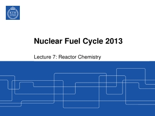 Nuclear Fuel Cycle 2013