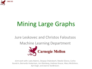 Mining Large  Graphs