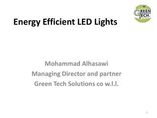Energy Efficient LED Lights