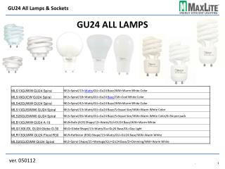 GU24 All Lamps