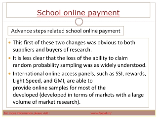 The online portal of school online payment