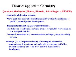 Theories applied to Chemistry