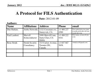 A Protocol for FILS Authentication