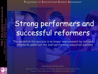 Strong performers and successful reformers