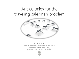 Ant colonies for the  traveling  salesman  problem