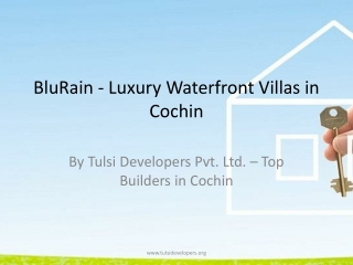 Waterfront Villas in Cochin - Blu Rain by Tulsi Devel