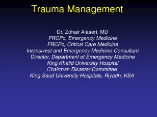 considerations in managing multiple systems trauma