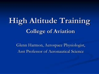 High Altitude Training College of Aviation