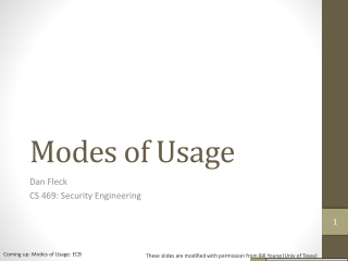 Modes of Usage
