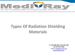 Medi-RayTM-Types of radiation shielding materials