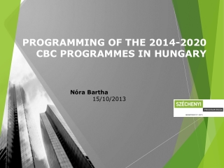 PROGRAMMING OF THE 2014-2020 CBC PROGRAMMES IN HUNGARY