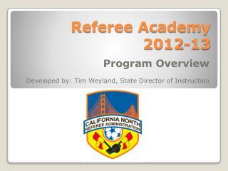 Referee Academy 2012-13