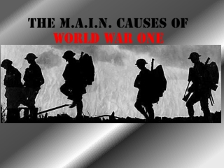 The M.A.I.N. Causes of  World War One